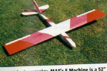 ` E-Machine ` 52 inch RC aerobatic electric glider also slope soaring or .15ci engines MAF Miniature Aircraft Factory